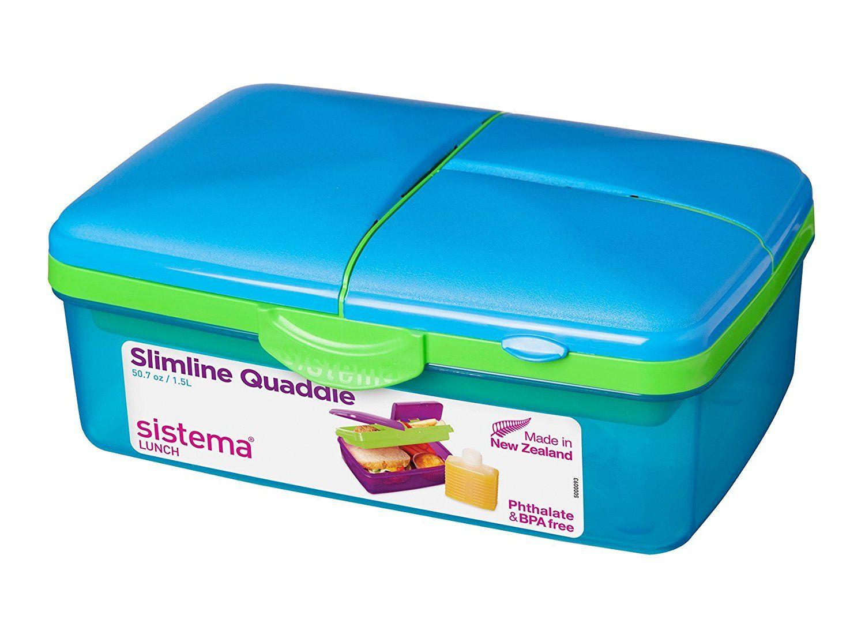 Sistema Lunch Slimline Quaddie - 1.5 L, Blue/Green: Amazon.co.uk ...