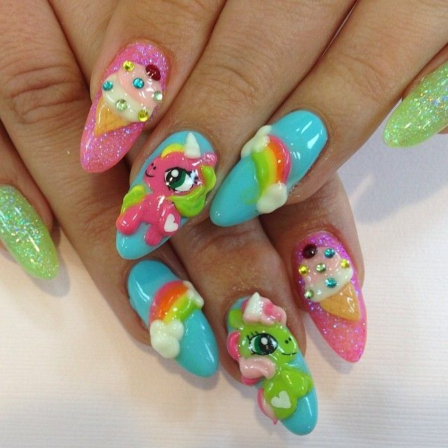 love my little pony. not crazy over the shape of the nails. | Nails ...