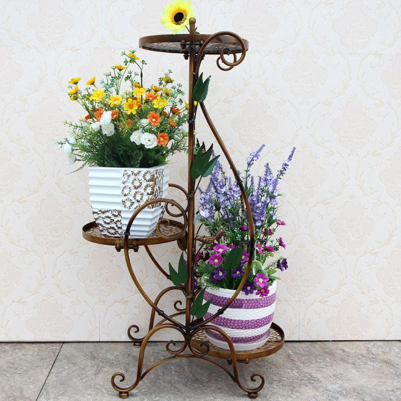 Metal Floor Standing Wrought Iron Pot Plant Stand Flower Planter 8