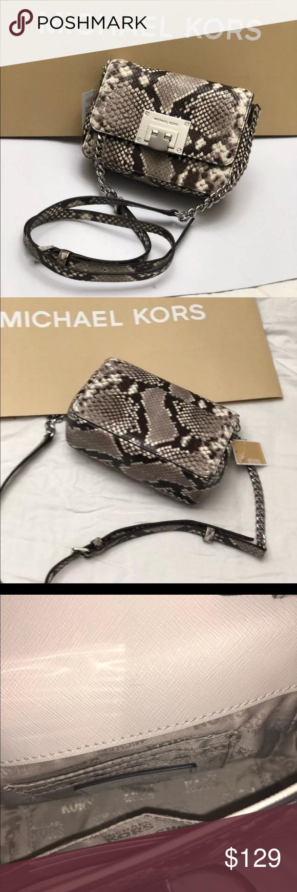 d2991b8753ea Authentic Michael Kors python Crossbody bag/Clutch Michael Kors Small  Clutch/ Cross body Brand