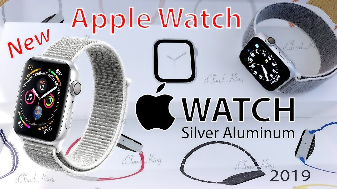 New!! Apple Watch Silver Aluminum Case with Seashell Sport