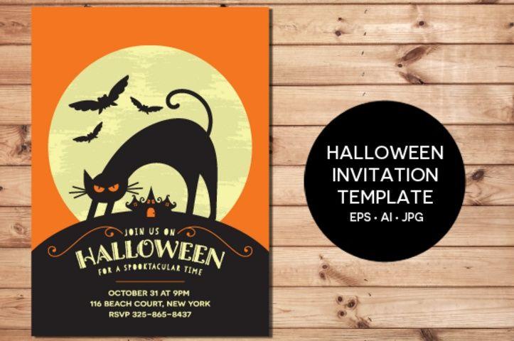 digital-halloween-invitation-template-eps-and-jpg 20+ Halloween - halloween invitation template