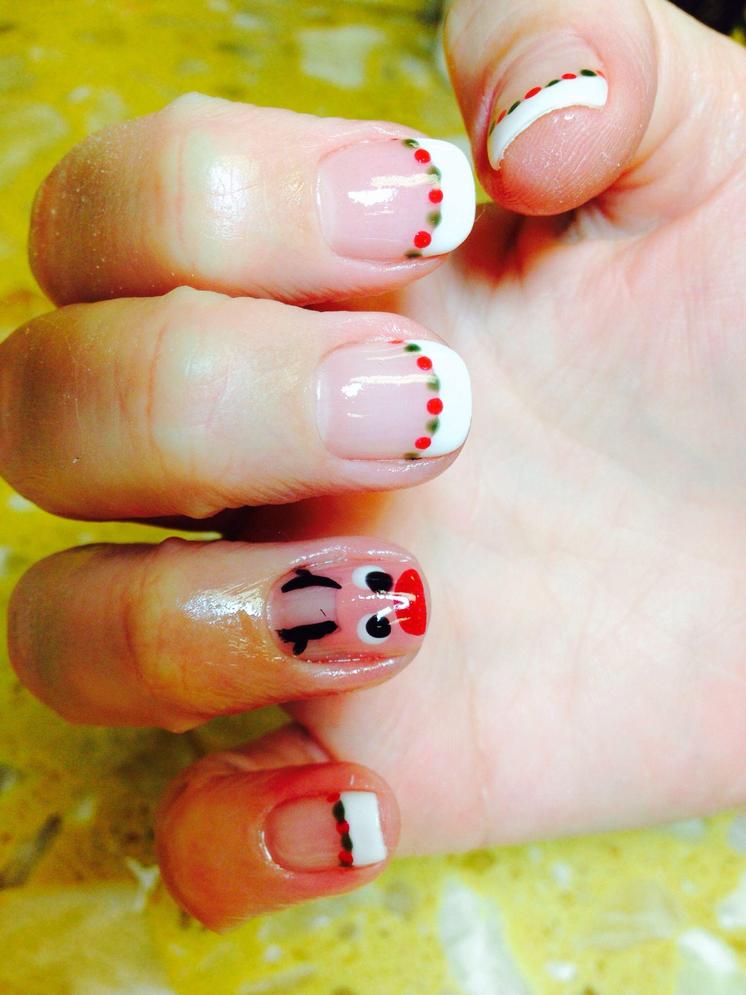 Christmas nails art#gel polish design @ Ocean Nails & Spa, FWB, FL ...