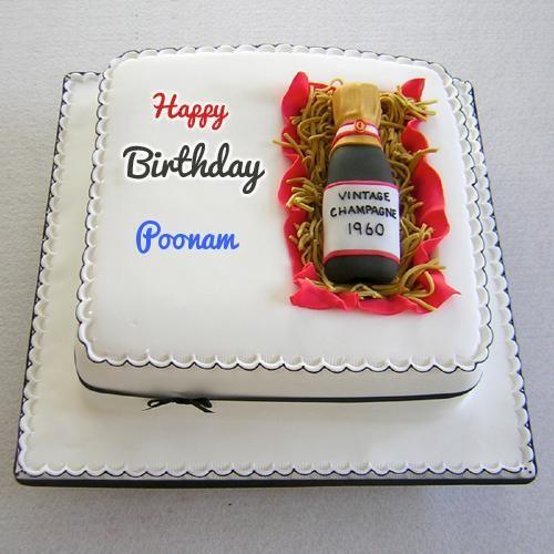 Write Name On Egg Less Wine Fruit Birthday Cake Picture