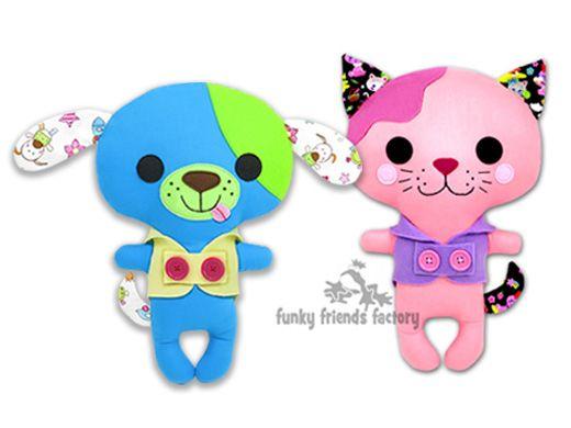 My latest Kawaii Kuties toy sewing pattern design! Kawaii Cat and ...