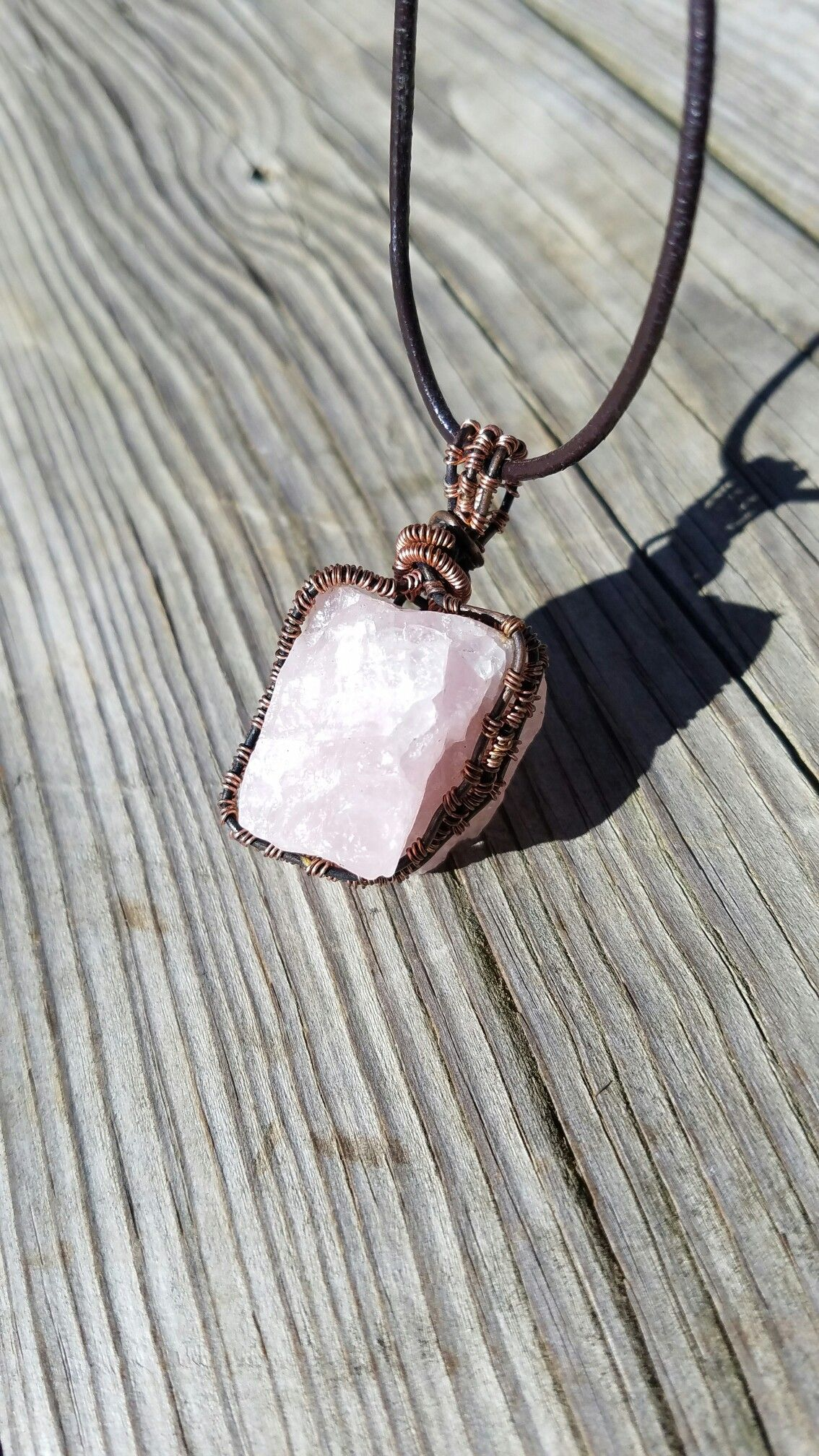 This beautiful Rose Quartz stone will open up your Heart Chakra ...