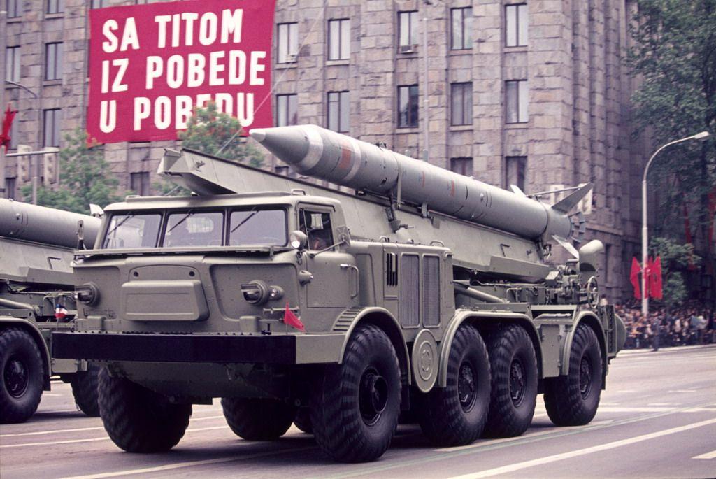Yugoslav 9K52 Luna-M rocket.  ...