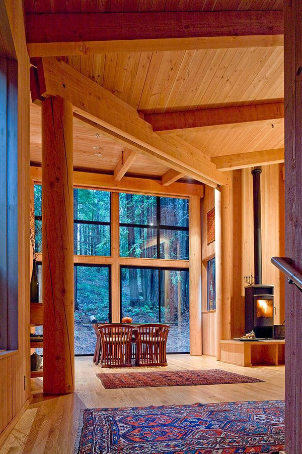 Sea Ranch Cabin Surrounded By Redwood Forest In California With