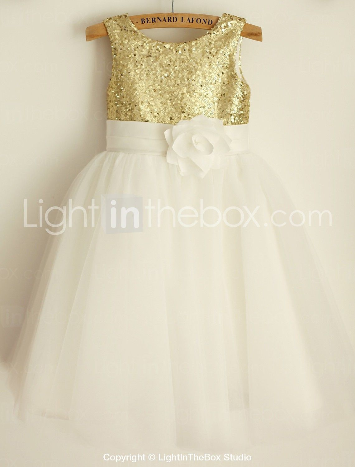 432531f565 59.49  Princess Knee Length Flower Girl Dress - Tulle   Sequined ...