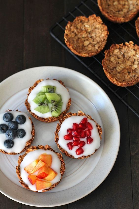 Fruit and Yogurt Granola Cups images