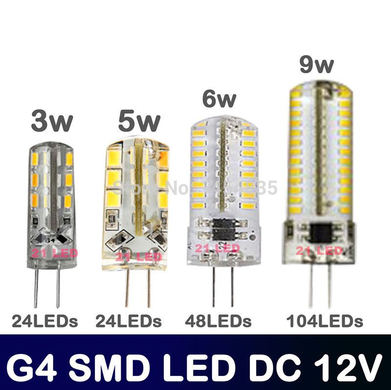 High Power Smd 3014 3528 3w 5w 6w 12v G4 Led Lamp Replace