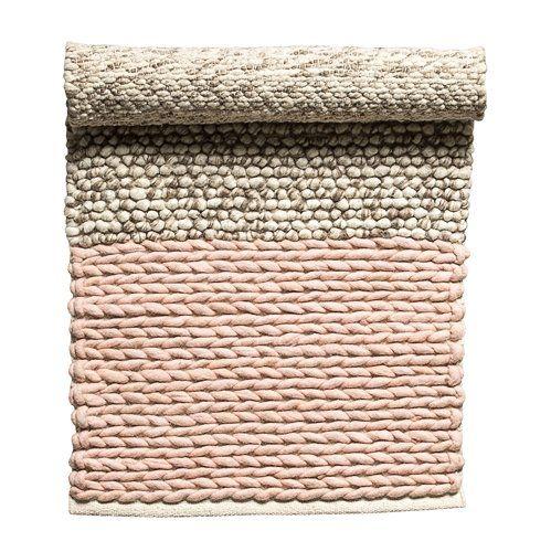 Alfombras de lana trenzada - crema marfil - Ø160cm - Bloomingville - Petite Lily Interiors