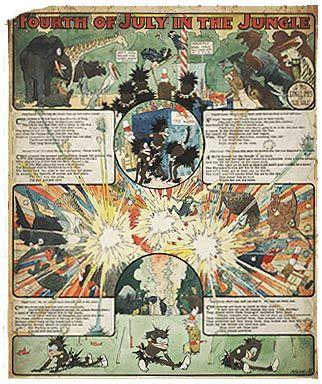 Tavola della serie 'Tales of the Jungle Imps', di Wilson McCay, pubblicata sul «Cincinnati Enquirer» il 28 giugno 1903.