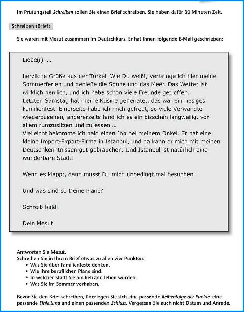 Formeller Brief Schreiben B1 In 2020 Briefe Schreiben Brief Schreiben