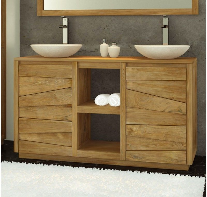 Meuble Salle de bain en teck 165 Serena Small bathroom, Bathroom