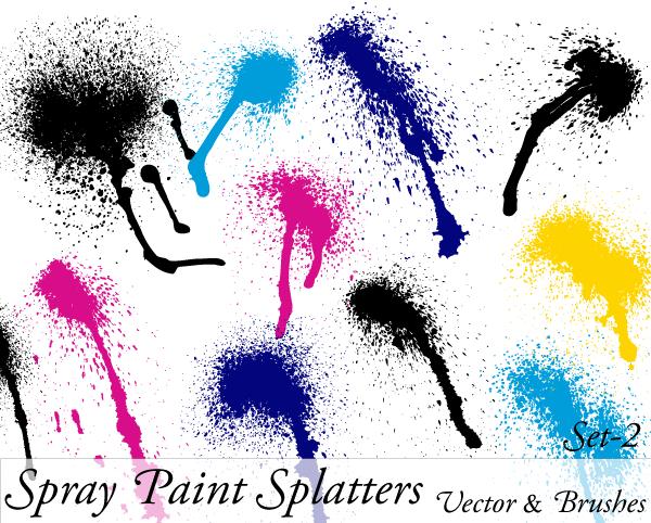 Spray paint splatter design