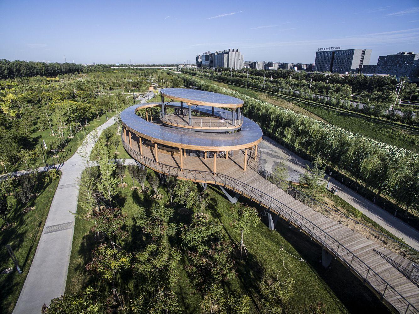 Gallery Of Beijing Daxing Park Cobblestone Design Canada 2 Design Pavillon