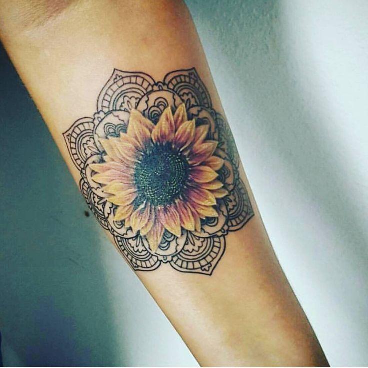 25+ best Sunflower mandala tattoo ideas on Pinterest