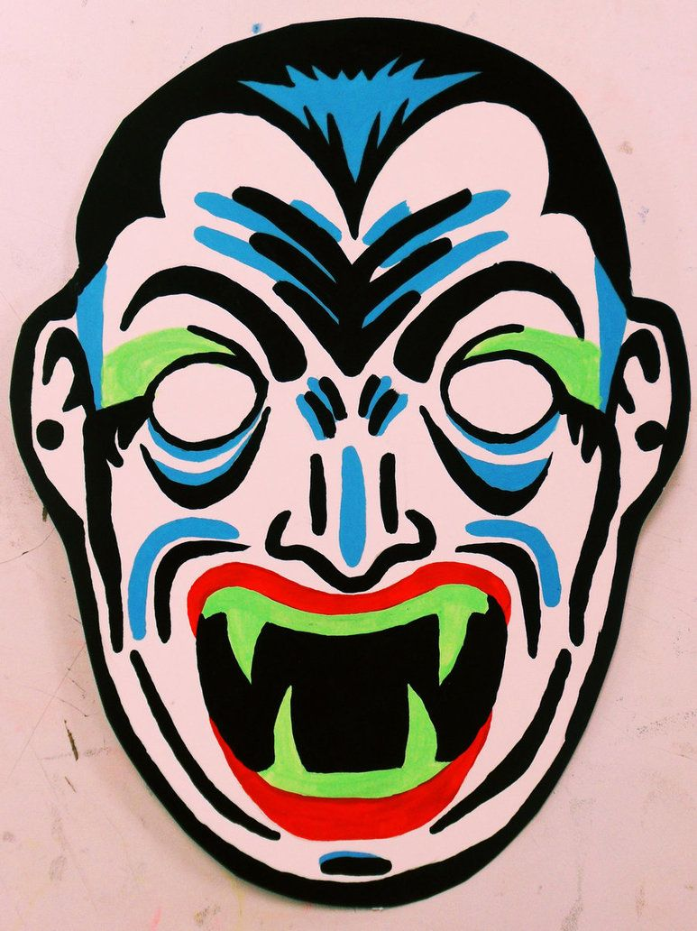 Dracula Vintage Halloween Mask Painting by Insert-Name-YouIdiot on ...