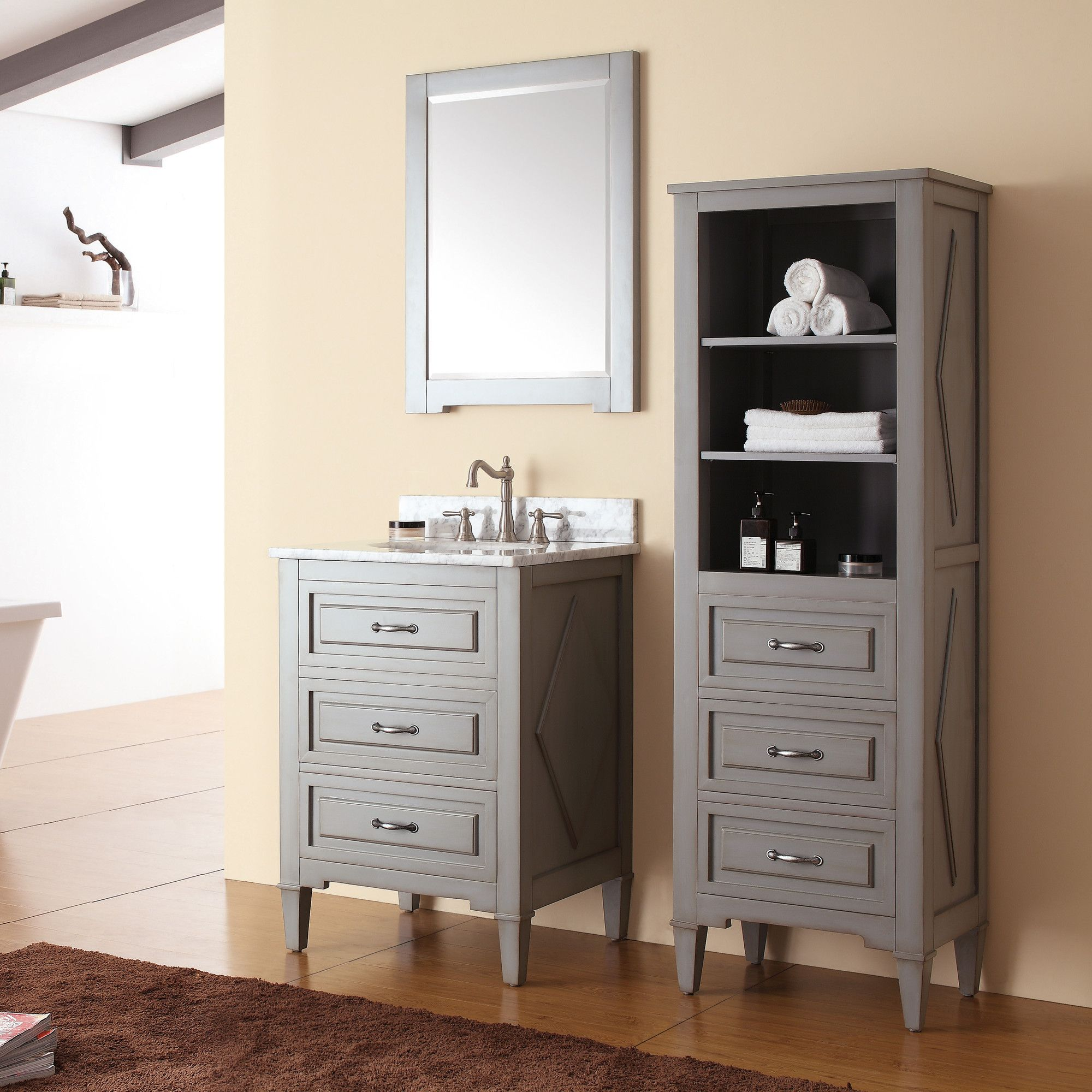 your luxurious new inch vanities l contemporary tops wayfair vanity to bathroom feeling sink adds a top with