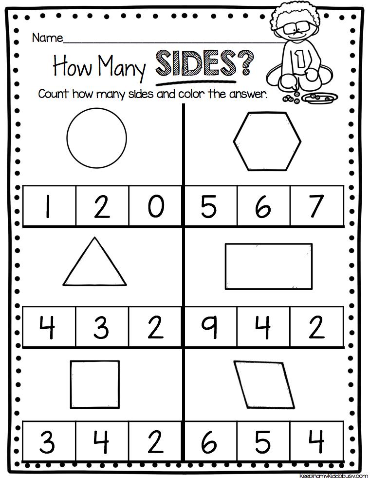 Kindergarten Geometry Unit Freebies Kindergarten Math Units