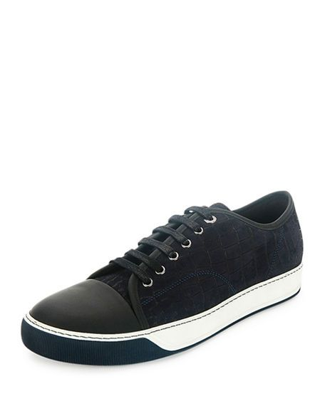 fc0f10e30fb96 LANVIN Men'S Croc-Embossed Low-Top Sneaker, Navy. #lanvin # | Lanvin ...