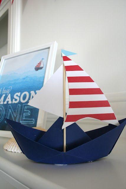 cute nautical theme centerpiece - Nautical Party Decorations