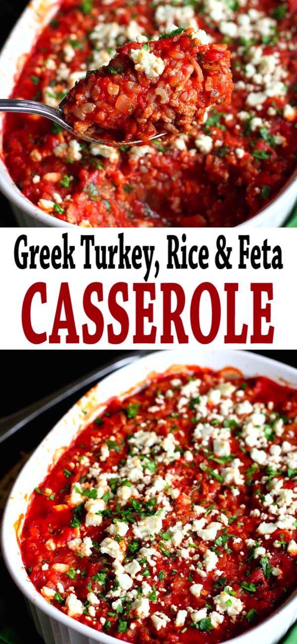 Photo of Greek Turkey, Rice & Feta Casserole