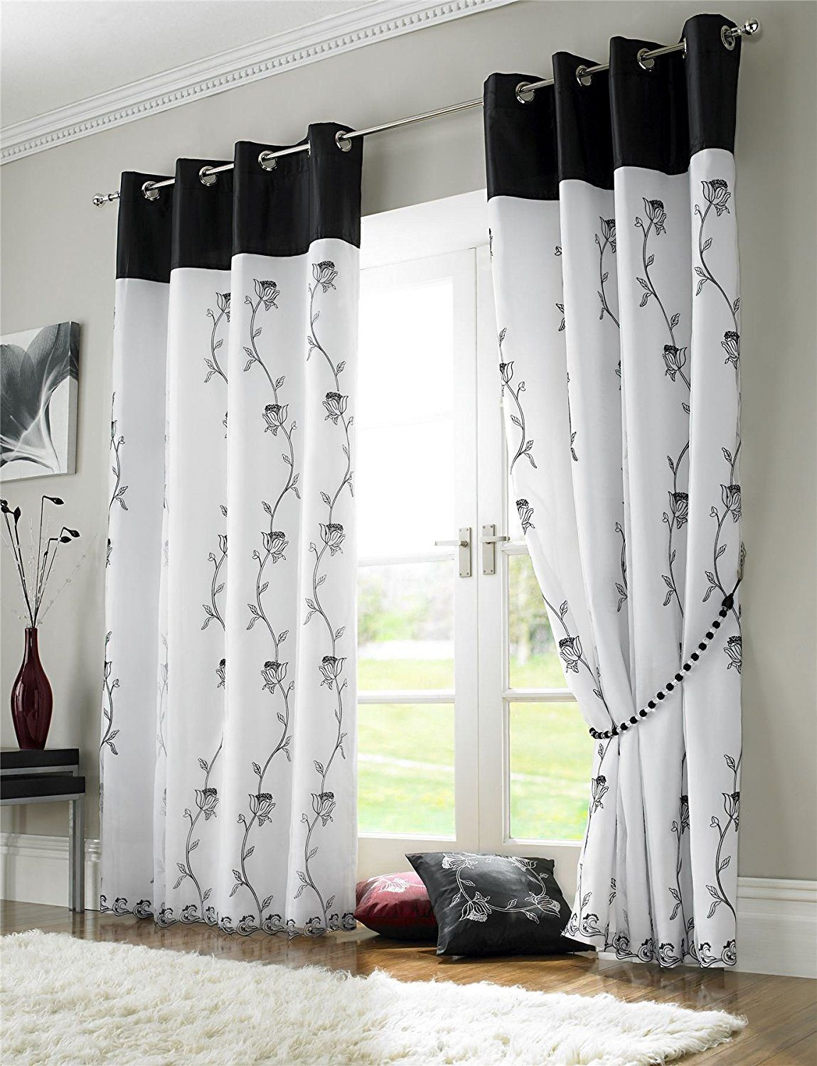 Black & White Curtains Seasonal Sale Black white