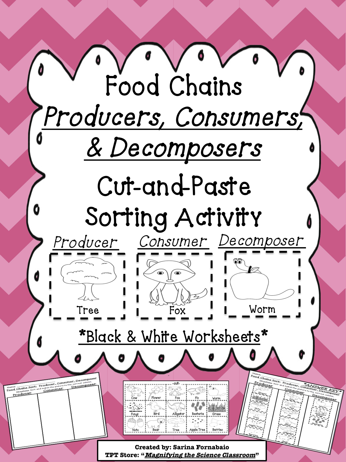 Food Chains Producers Consumers And Decomposers Cut And