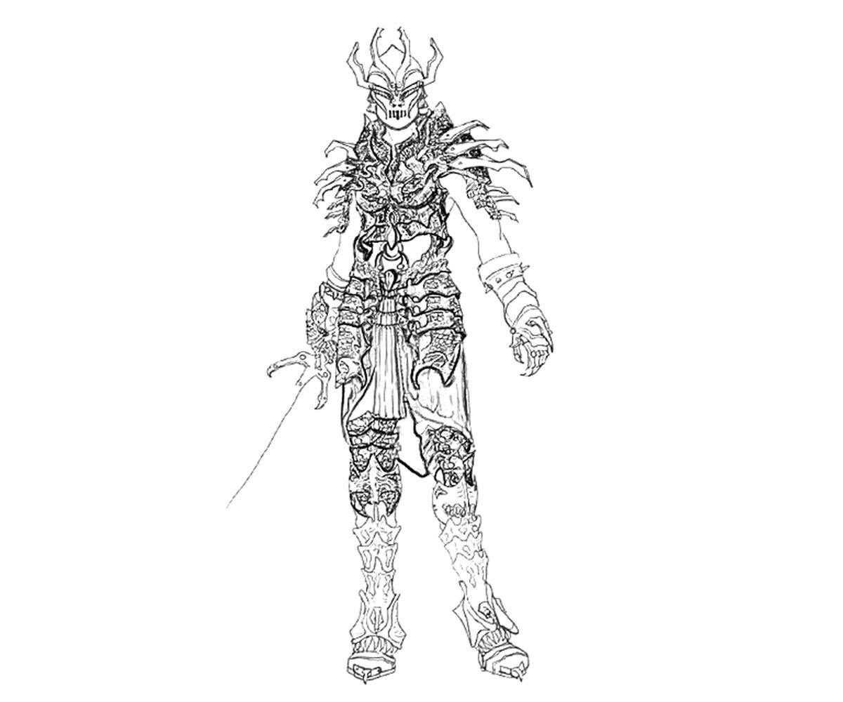 Skyrim Daedric Armor Coloring Pages Daedric Armor Skyrim Coloring Pages