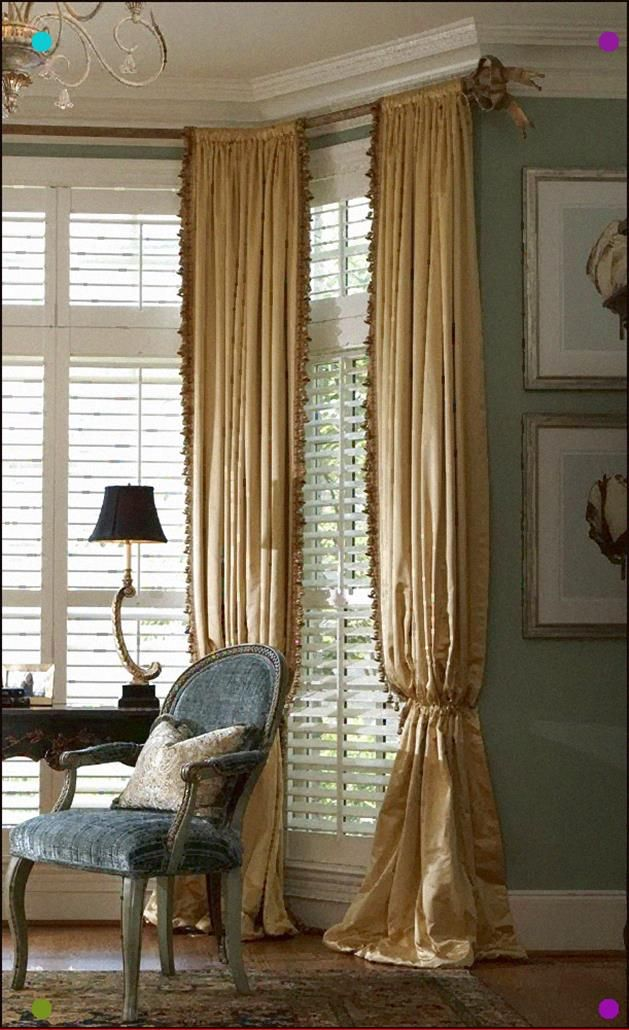 Gracious Style Excellent Example Of Shutters And Drapes