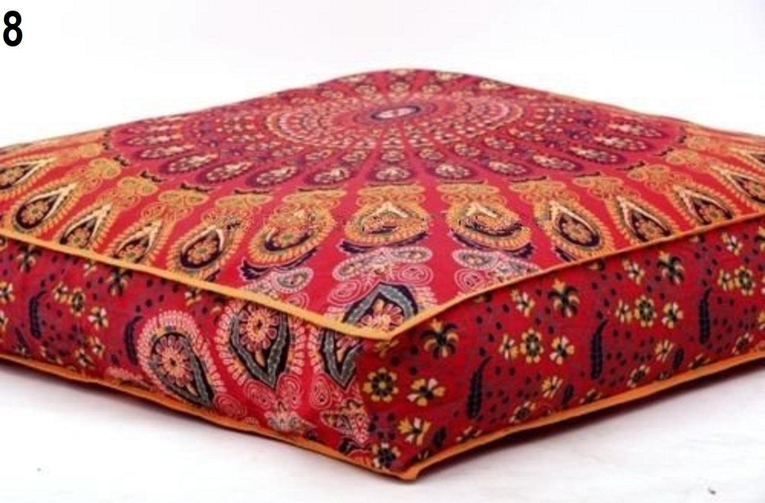 Mandala Square Floor Pillow Pouf Cushion Cover Meditation Image 8