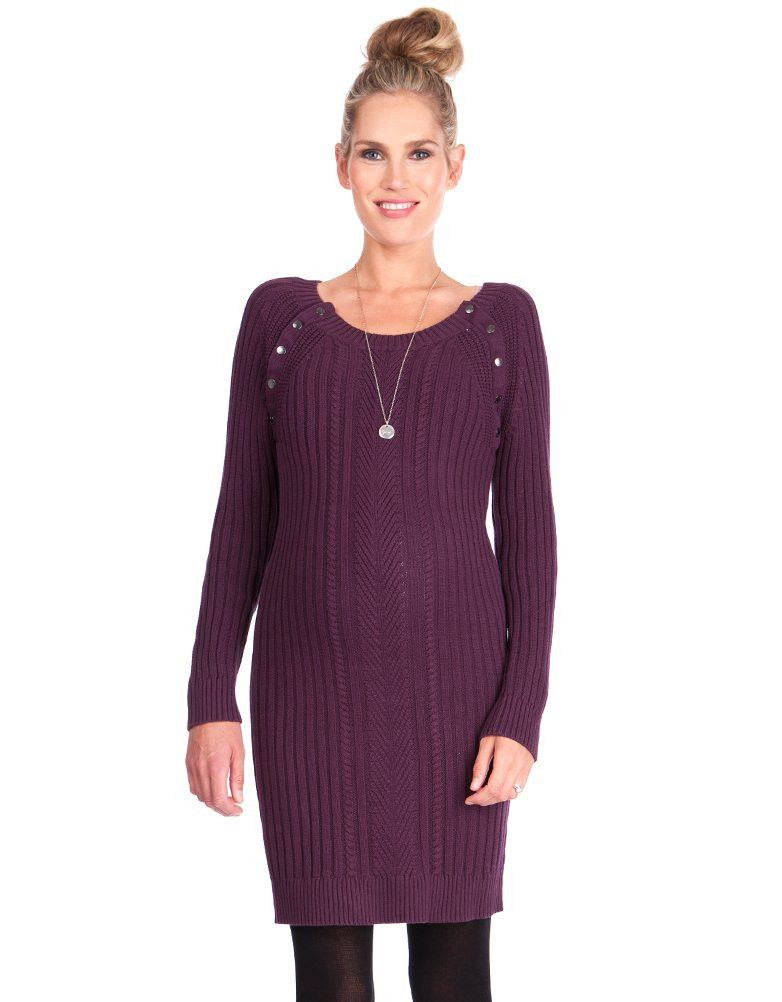 Burgundy Knitted Maternity Nursing Dress Seraphine Maternity Nursing Dress Nursing Dress Discount Maternity Clothes