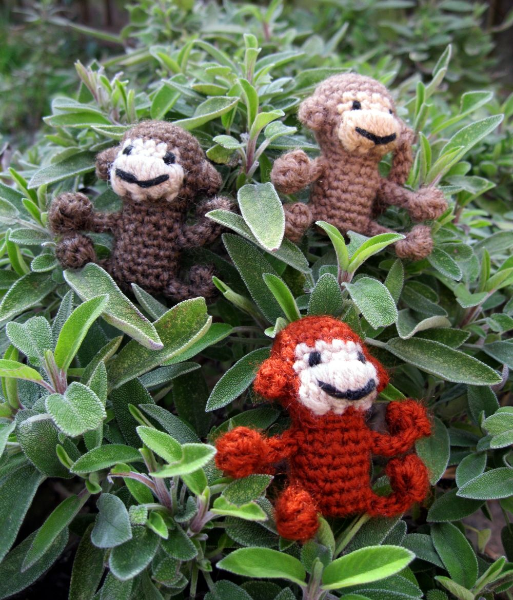 LucyRavenscar - Crochet Creatures: Mini Monkeys - Free Amigurumi ...