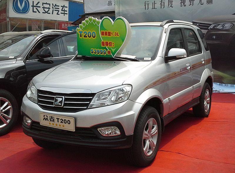 Zotye T200 China 2014 04 16 Zotye Auto Wikipedia Cars Volume 1