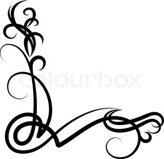 Graphic Scroll Flower Vector Colourbox Clip Art Free Clip Art Free Clipart Images