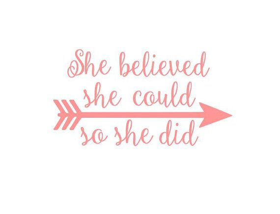 She Believed Could So Did Arrow Instant Cut File For Cutting Machines Svg Dxf Eps Ps Studio3 Studio