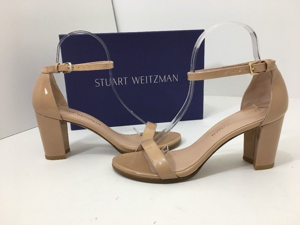 ab2d6ef755 Stuart Weitzman Nearlynude Women's High Heel Sandals Nude Patent Leather  7.5 N <font rwr='1' size='4' style='font-family:Arial'><font rwr= 1 size= 4  style= ...