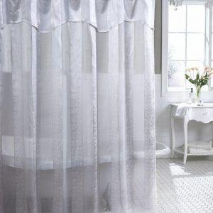 Sheer White Shower Curtain Fabric