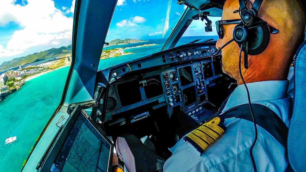 Extreme St Maarten Airport Cockpit Landing Cockpit Air