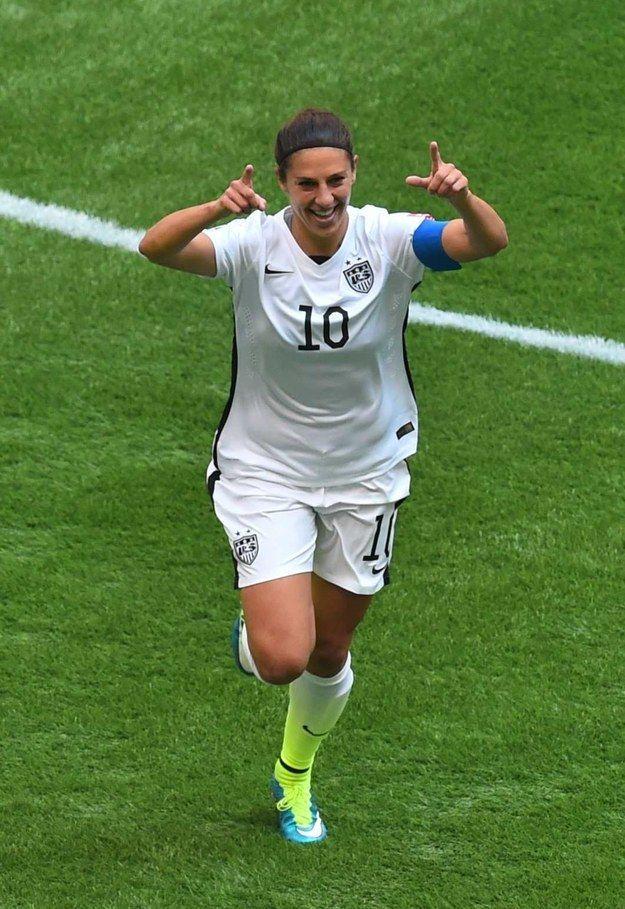 Carli Lloyd Scored The Fastest Hat Trick In World Cup History Carli Lloyd Usa Soccer Women Women S Soccer