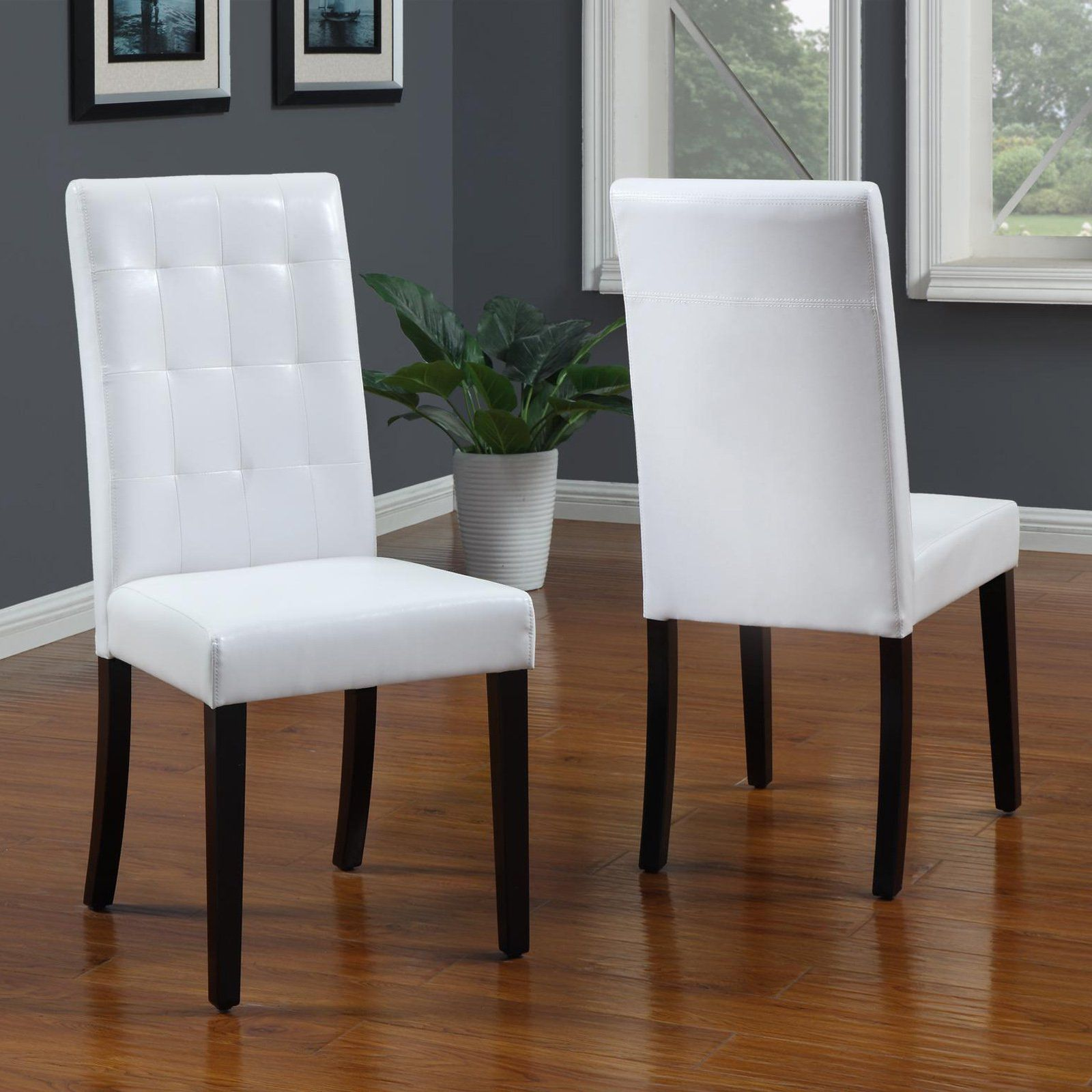 White Leather Dining Room Chairs White Leather Dining Room Chairs