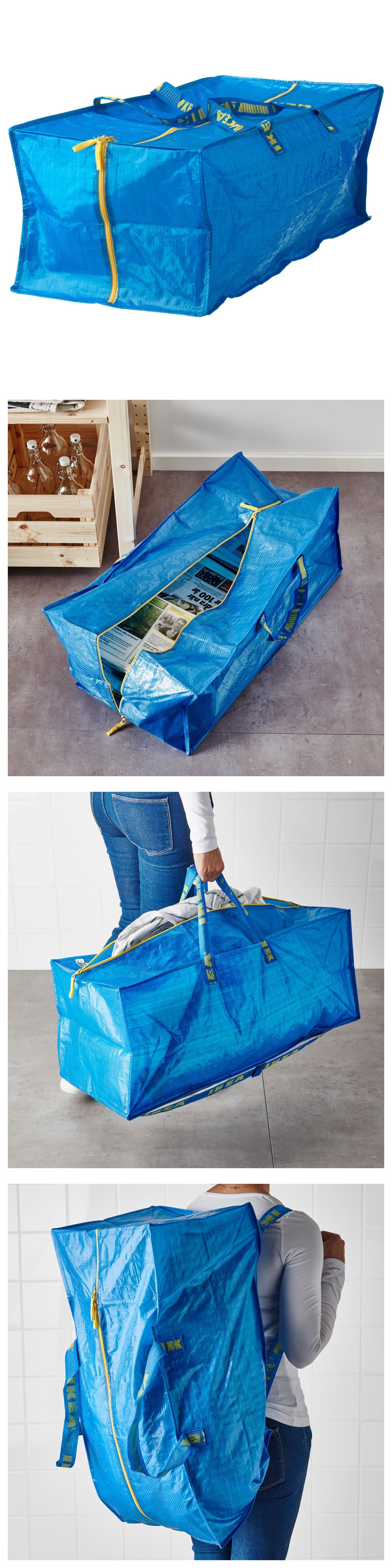 Reusable Eco Bags 169302: Ikea Frakta Storage Bag,Extra Large   Blue