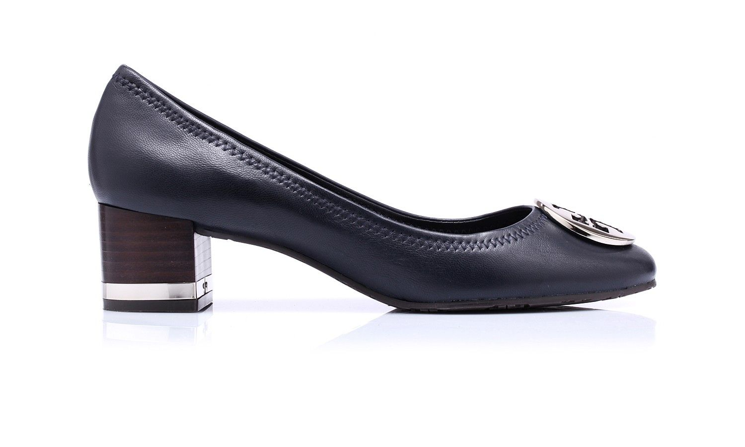 81d0d5f74 Amy Pump by @Victoria McCoy Burch. Leather pumps with wood and metal stripe  heels and leather sole.