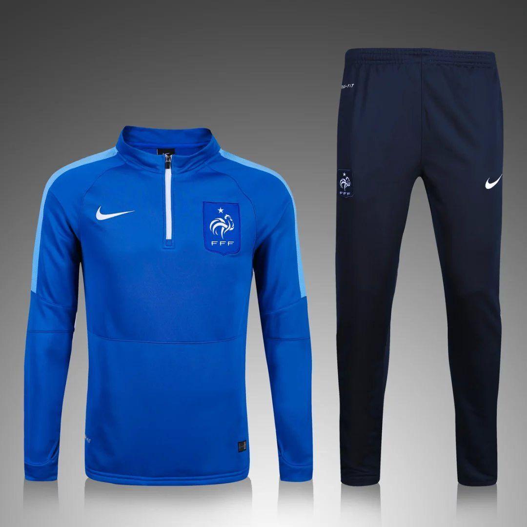 France Euro 2016/17 Men Blue Tracksuit Slim Fit Moda