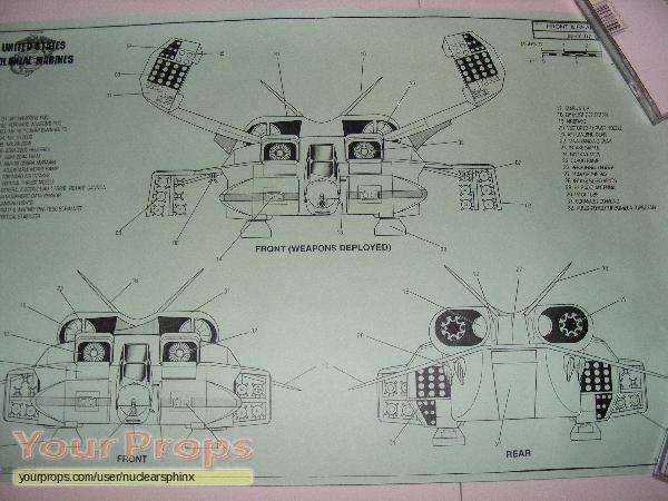 Aliens Dropship Blueprints Page 3 replica movie prop Models - copy blueprint start animation