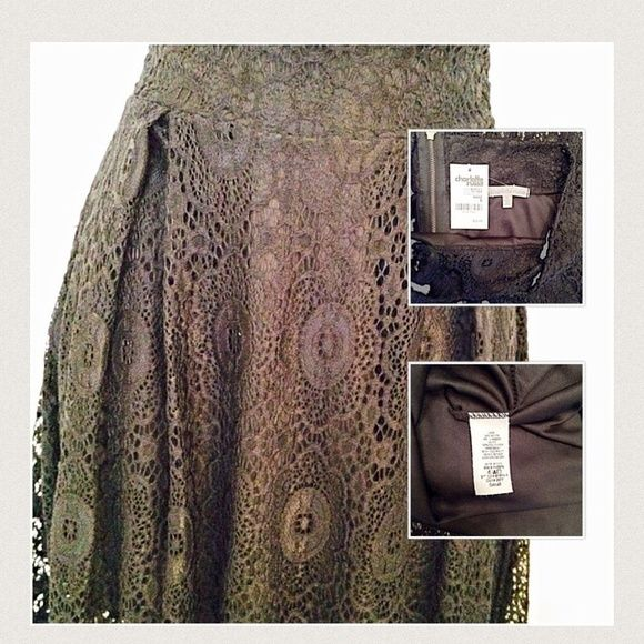 CHARLOTTE RUSSE Midi Lace & Skirt. NWT Size small skirt. Great for going out in.  Bundle save on shipping & get discount 👍💕😊 Charlotte Russe Skirts Midi