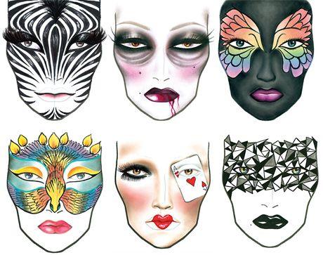 mac halloween makeup ideas  random style on fb cover oct
