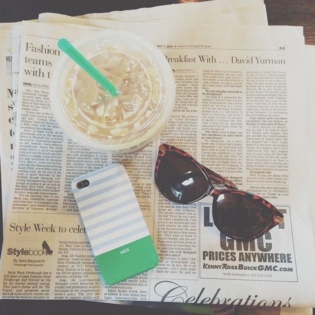 Iced Coffee Sunnies And Paper With Phone Preppy Girl Sweet